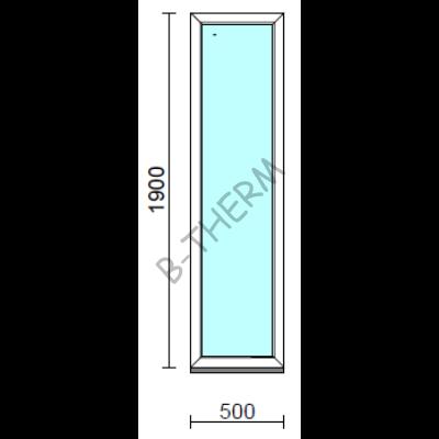 Fix ablak.   50x190 cm (Rendelhető méretek: szélesség 50-54 cm, magasság 185-194 cm.)  New Balance 85 profilból