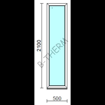 Fix ablak.   50x210 cm (Rendelhető méretek: szélesség 50-54 cm, magasság 205-214 cm.)  New Balance 85 profilból