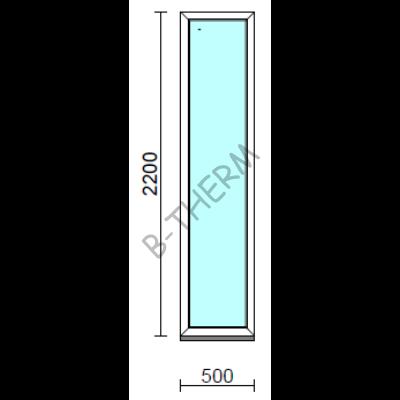Fix ablak.   50x220 cm (Rendelhető méretek: szélesség 50-54 cm, magasság 215-224 cm.)   Optima 76 profilból