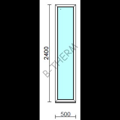 Fix ablak.   50x240 cm (Rendelhető méretek: szélesség 50-54 cm, magasság 235-240 cm.)  New Balance 85 profilból