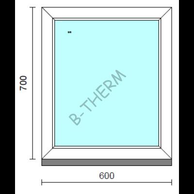 Fix ablak.   60x 70 cm (Rendelhető méretek: szélesség 55-64 cm, magasság 65-74 cm.) Deluxe A85 profilból
