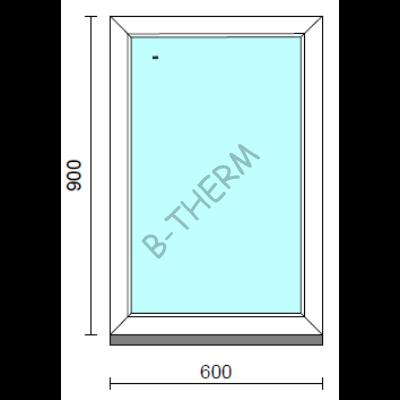 Fix ablak.   60x 90 cm (Rendelhető méretek: szélesség 55-64 cm, magasság 85-94 cm.)   Optima 76 profilból