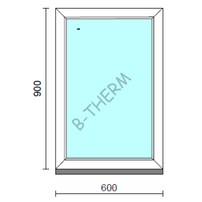 Fix ablak.   60x 90 cm (Rendelhető méretek: szélesség 55-64 cm, magasság 85-94 cm.) Deluxe A85 profilból