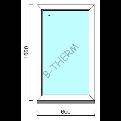 Fix ablak.   60x100 cm (Rendelhető méretek: szélesség 55-64 cm, magasság 95-104 cm.)   Optima 76 profilból