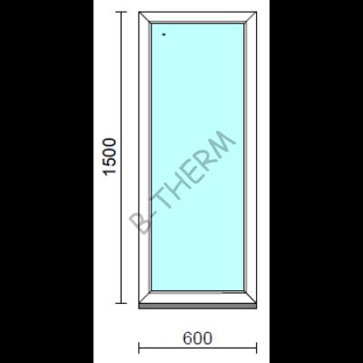 Fix ablak.   60x150 cm (Rendelhető méretek: szélesség 55-64 cm, magasság 145-154 cm.)   Optima 76 profilból