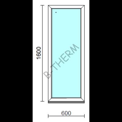 Fix ablak.   60x160 cm (Rendelhető méretek: szélesség 55-64 cm, magasság 155-164 cm.) Deluxe A85 profilból