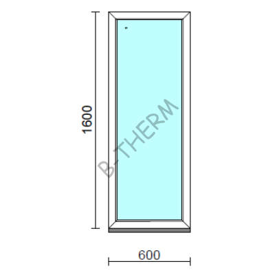 Fix ablak.   60x160 cm (Rendelhető méretek: szélesség 55-64 cm, magasság 155-164 cm.)  New Balance 85 profilból