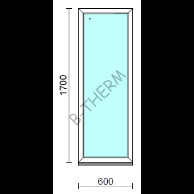 Fix ablak.   60x170 cm (Rendelhető méretek: szélesség 55-64 cm, magasság 165-174 cm.)   Optima 76 profilból