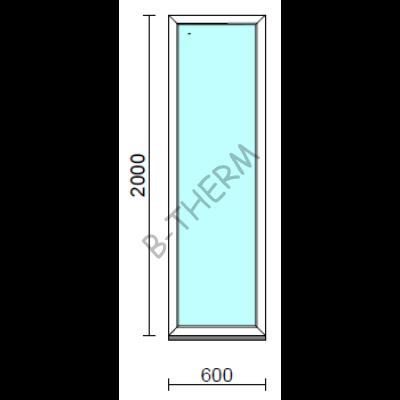 Fix ablak.   60x200 cm (Rendelhető méretek: szélesség 55-64 cm, magasság 195-204 cm.) Deluxe A85 profilból