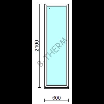 Fix ablak.   60x210 cm (Rendelhető méretek: szélesség 55-64 cm, magasság 205-214 cm.) Deluxe A85 profilból