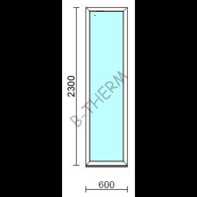 Fix ablak.   60x230 cm (Rendelhető méretek: szélesség 55-64 cm, magasság 225-234 cm.) Deluxe A85 profilból