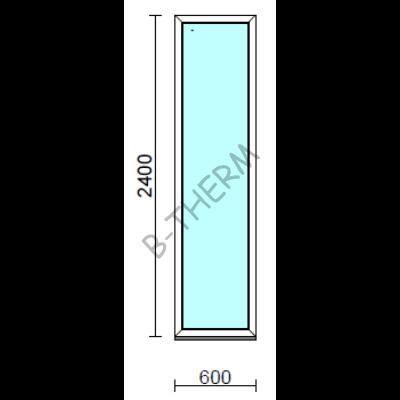 Fix ablak.   60x240 cm (Rendelhető méretek: szélesség 55-64 cm, magasság 235-240 cm.) Deluxe A85 profilból