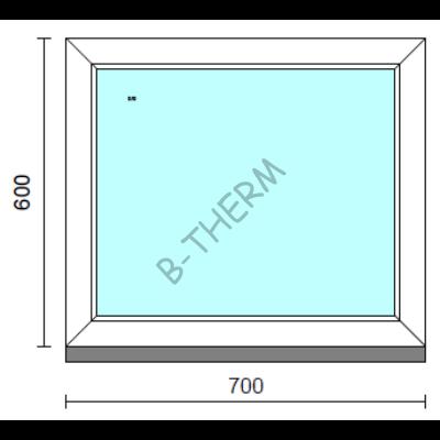 Fix ablak.   70x 60 cm (Rendelhető méretek: szélesség 65-74 cm, magasság 55-64 cm.)  New Balance 85 profilból
