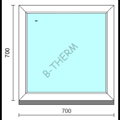 Fix ablak.   70x 70 cm (Rendelhető méretek: szélesség 65-74 cm, magasság 65-74 cm.) Deluxe A85 profilból