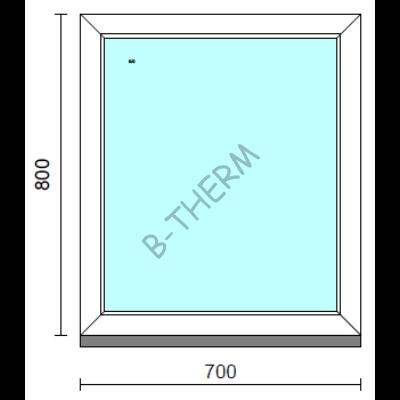 Fix ablak.   70x 80 cm (Rendelhető méretek: szélesség 65-74 cm, magasság 75-84 cm.) Deluxe A85 profilból