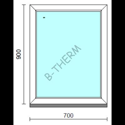 Fix ablak.   70x 90 cm (Rendelhető méretek: szélesség 65-74 cm, magasság 85-94 cm.)   Optima 76 profilból