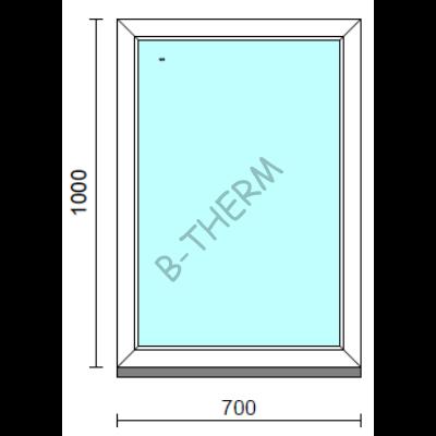 Fix ablak.   70x100 cm (Rendelhető méretek: szélesség 65-74 cm, magasság 95-104 cm.) Deluxe A85 profilból