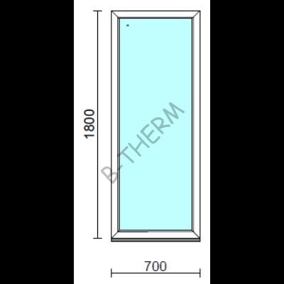 Fix ablak.   70x180 cm (Rendelhető méretek: szélesség 65-74 cm, magasság 175-184 cm.) Deluxe A85 profilból