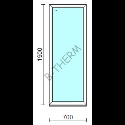 Fix ablak.   70x190 cm (Rendelhető méretek: szélesség 65-74 cm, magasság 185-194 cm.)  New Balance 85 profilból
