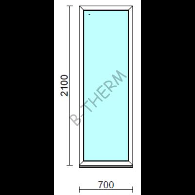 Fix ablak.   70x210 cm (Rendelhető méretek: szélesség 65-74 cm, magasság 205-214 cm.) Deluxe A85 profilból