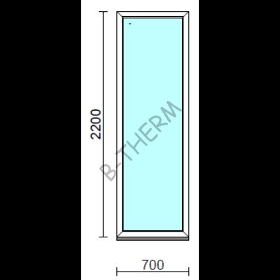 Fix ablak.   70x220 cm (Rendelhető méretek: szélesség 65-74 cm, magasság 215-224 cm.) Deluxe A85 profilból
