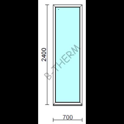 Fix ablak.   70x240 cm (Rendelhető méretek: szélesség 65-74 cm, magasság 235-240 cm.)   Optima 76 profilból