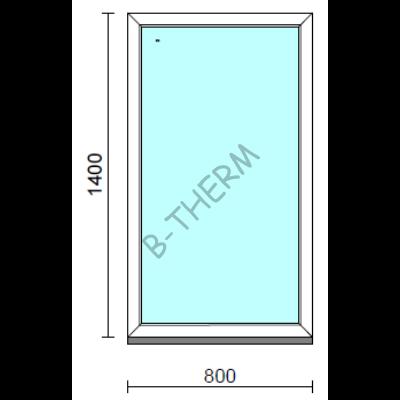 Fix ablak.   80x140 cm (Rendelhető méretek: szélesség 75-84 cm, magasság 135-144 cm.)  New Balance 85 profilból