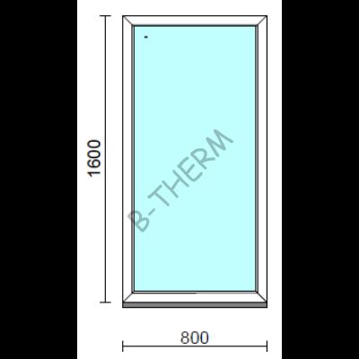 Fix ablak.   80x160 cm (Rendelhető méretek: szélesség 75-84 cm, magasság 155-164 cm.) Deluxe A85 profilból