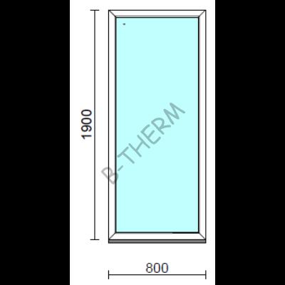 Fix ablak.   80x190 cm (Rendelhető méretek: szélesség 75-84 cm, magasság 185-194 cm.) Deluxe A85 profilból