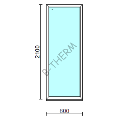 Fix ablak.   80x210 cm (Rendelhető méretek: szélesség 75-84 cm, magasság 205-214 cm.)  New Balance 85 profilból