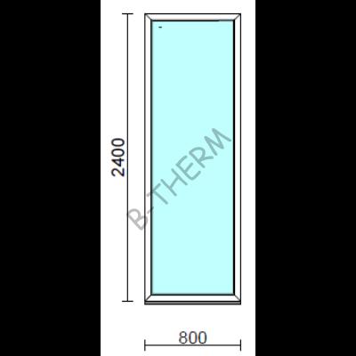 Fix ablak.   80x240 cm (Rendelhető méretek: szélesség 75-84 cm, magasság 235-240 cm.)  New Balance 85 profilból
