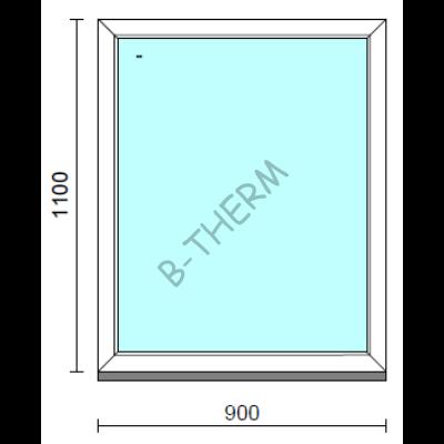 Fix ablak.   90x110 cm (Rendelhető méretek: szélesség 85-94 cm, magasság 105-114 cm.)  New Balance 85 profilból