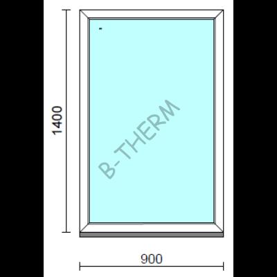 Fix ablak.   90x140 cm (Rendelhető méretek: szélesség 85-94 cm, magasság 135-144 cm.)   Optima 76 profilból