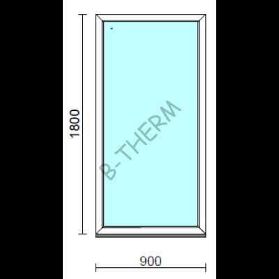 Fix ablak.   90x180 cm (Rendelhető méretek: szélesség 85-94 cm, magasság 175-184 cm.)  New Balance 85 profilból