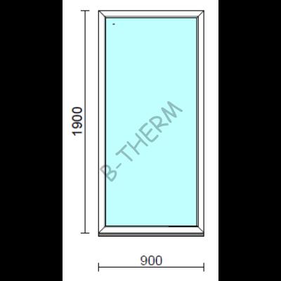 Fix ablak.   90x190 cm (Rendelhető méretek: szélesség 85-94 cm, magasság 185-194 cm.)   Optima 76 profilból