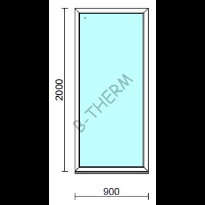 Fix ablak.   90x200 cm (Rendelhető méretek: szélesség 85-94 cm, magasság 195-204 cm.)  New Balance 85 profilból