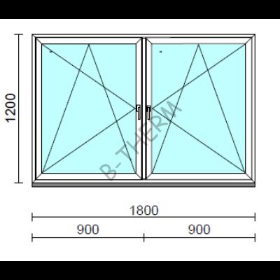 TO Bny-Bny ablak.  180x120 cm (Rendelhető méretek: szélesség 175-184 cm, magasság 115-124 cm.)  New Balance 85 profilból