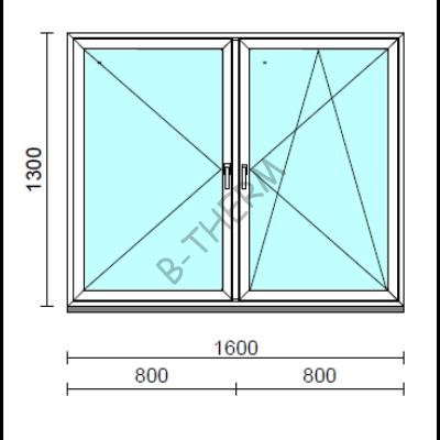 TO Ny-Bny ablak.  160x130 cm (Rendelhető méretek: szélesség 155-164 cm, magasság 125-134 cm.)  New Balance 85 profilból