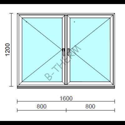 TO Ny-Ny ablak.  160x120 cm (Rendelhető méretek: szélesség 155-164 cm, magasság 115-124 cm.)   Optima 76 profilból