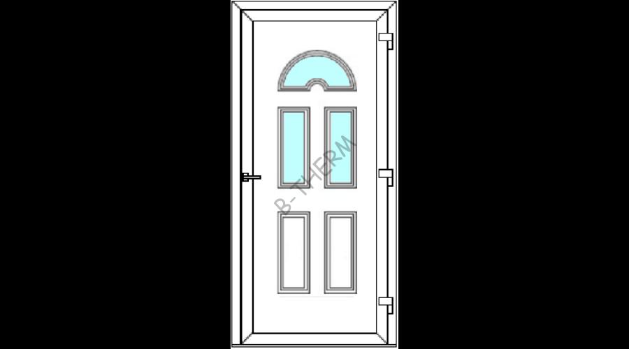 Kifelé nyíló bejárati ajtó zsanér